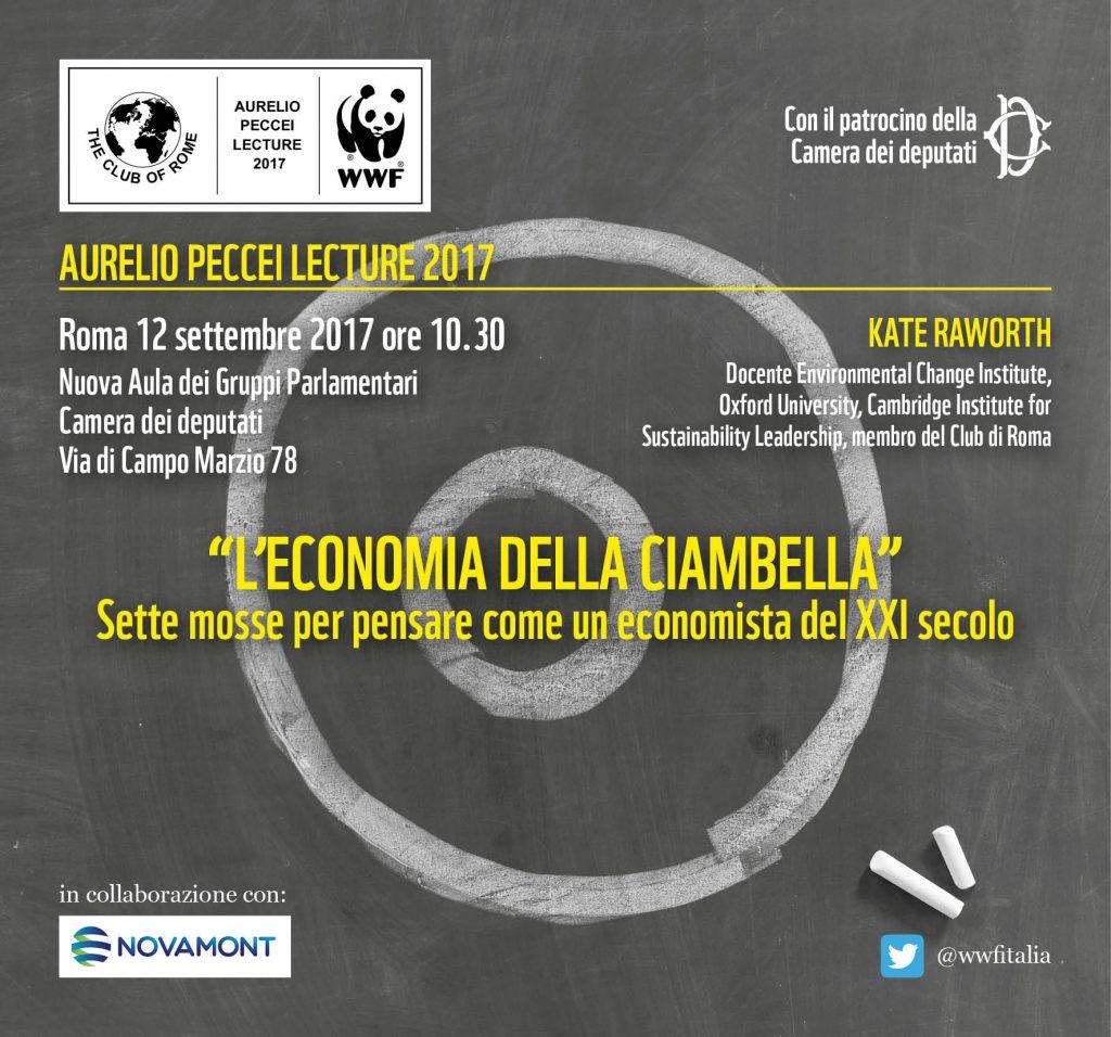 Aurelio Peccei Lecture 2017 | L'economia della ciambella | ore 10.30 | Camera Deputati | ROMA @ Nuova Aula Gruppi Parlamentari | Roma | Lazio | Italia