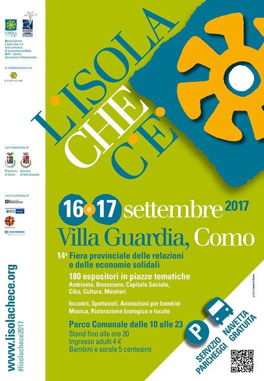 L'ISOLA CHE C'E' | sabato 16 e domenica 17 settembre | Parco comunale | VILLA GUARDIA @ Parco Comunale  | Villa Guardia | Lombardia | Italia