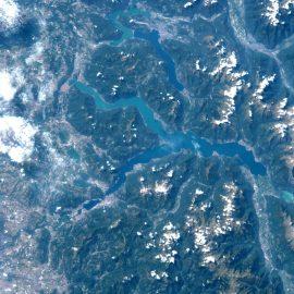 LAGO DI COMO, visto dalla spazio
