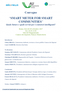 "Convegno ""SMART METER FOR SMART COMMUNITIES"" 