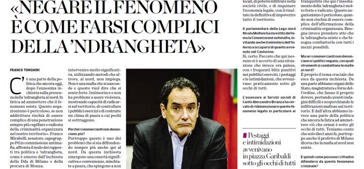 'NDRANGHETA a CANTU', intervista a Franco Mirabelli, senatore, capogruppo PD Commissione Antimafia