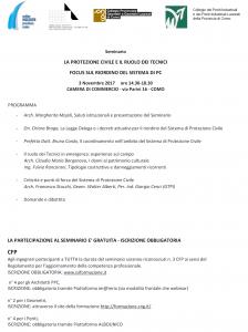Seminario LA PROTEZIONE CIVILE E IL RUOLO DEI TECNICI | ore 14.30-18.30 | CCIAA di via Parini, 16 | COMO @ CCIAA Como, via Parini, 16 | Como | Lombardia | Italia