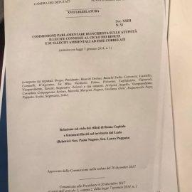 """ECOMAFIE, approvata relazione su Roma e Lazio: """"Rischi attuali per la legalità e l'ambiente"""""""