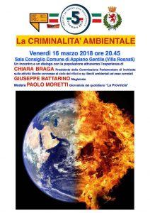 LA CRIMINALITA' AMBIENTALE | ore 20.45 | Villa Rosnati | APPIANO GENTILE @ Villa Rosnati, Appiano Gentile | Appiano Gentile | Lombardia | Italia