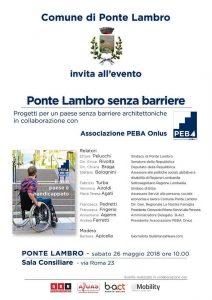 """PONTE LAMBRO SENZA BARRIERE"" | ore 10.00 | Sala consiliare del Comune | PONTE LAMBRO @ Sala consiliare del Comune di Ponte Lambro | Ponte Lambro | Lombardia | Italia"