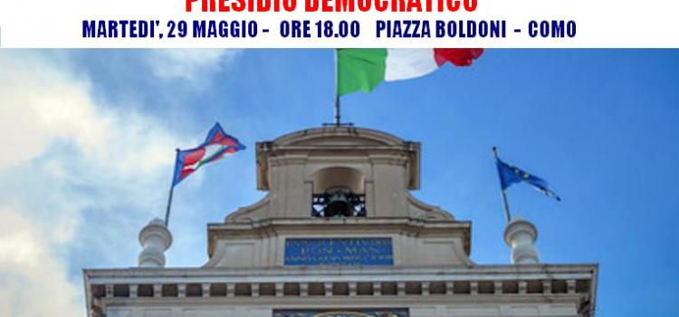 PRESIDIO DEMOCRATICO a COMO, #iostoconmattarella