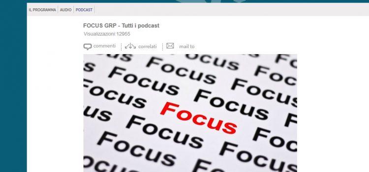 RAI GrParlamento, intervista radiofonica alla trasmissione di approfondimento Focus