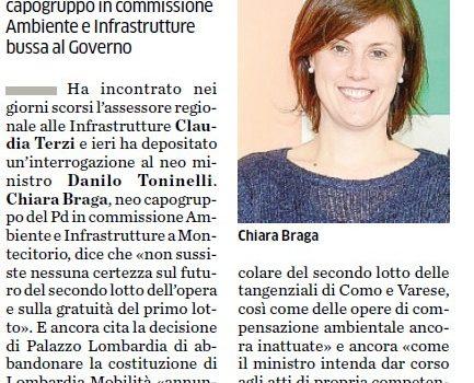 PEDEMONTANA LOMBARDA, LE TRE PROMESSE MANCATE. Presentata interrogazione al Ministro delle Infrastrutture