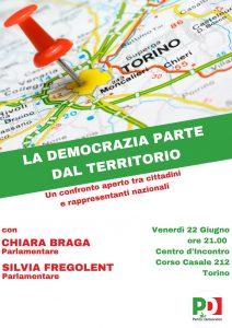 LA DEMOCRAZIA PARTE DAL TERRITORIO | ore 21.00 | Centro d'Incontro, Corso Casale, 212 | TORINO @ Centro d'Incontro | Torino | Piemonte | Italia