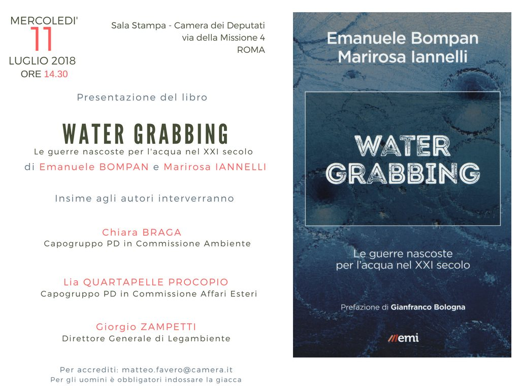 Presentazione del libro water grabbing di emanuele for Rassegna stampa camera deputati