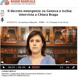 DECRETO EMERGENZE SU GENOVA E ISCHIA, intervista a Radio Radicale