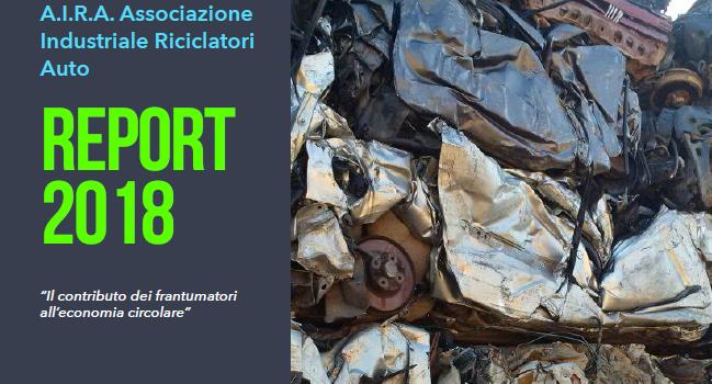 FLUSSO DEI VEICOLI FUORI USO, il Report 2018 dell'Associazione Industriale Riciclatori Auto