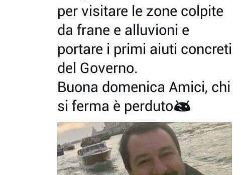 """MALTEMPO: """"Salvini senza vergogna. Basta sciacallaggio su danni e vittime. Cancelli condono Ischia e ripristini Italia Sicura"""""""