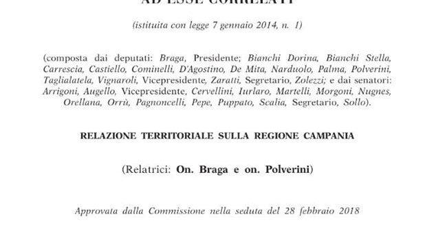 """RIFIUTI, INCENERITORI: """"Chi è al Governo dovrebbe leggere la Relazione della Commissione Ecomafie sulla Regione Campania"""""""