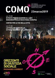 Giornata della memoria in ricordo delle vittime innocenti delle mafie | ore 10.00 | COMO @ Giardini a Lago | Como | Lombardia | Italia