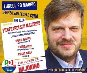 Incontro con MAJORINO | ore 18.00 | Piazza San Fedele | COMO @ Piazza San Fedele, Como | Como | Lombardia | Italia