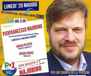 Incontro con MAJORINO | ore 21.00 | Sala convegni Cgil, via Italia Libera | COMO @ Piazza San Fedele, Como | Como | Lombardia | Italia