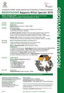 ISPRA presentazione Rapproto Rifiuti Speciali | ore 9.00-13.00 | Sala Capitolare, Senato | ROMA @ Sala Capitolare | Roma | Lazio | Italia