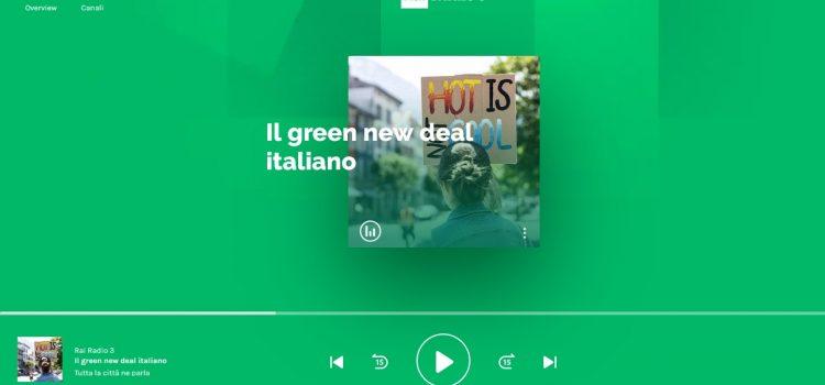 """Rai Radio 3 -Tutta la città ne parla: """"Il Green New Deal italiano"""""""