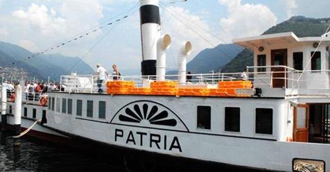"""PATRIA: """"Oggi l'inizio di un nuovo futuro per lo storico piroscafo, simbolo della Navigazione del lago di Como"""""""