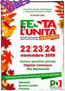 FESTA D'AUTUNNO PD PROVINCIA COMO dal 22 al 24 novembre 2019 | Centro Sportivo Pineta di via Sterlocchi | OLGIATE COMASCO (CO)