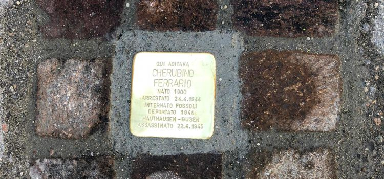 PIETRA D'INCIAMPO all'appianese Cherubino Ferrario