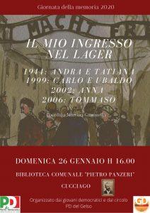 IL MIO INGRESSO NEL LAGER | ore 16.00 | Biblioteca comunale «Pietro Panzeri» | CUCCIAGO