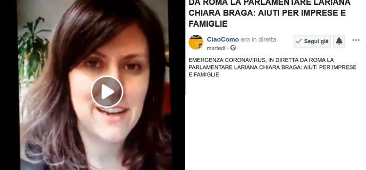 CORONAVIRUS, la mia videointervista a CIAO COMO