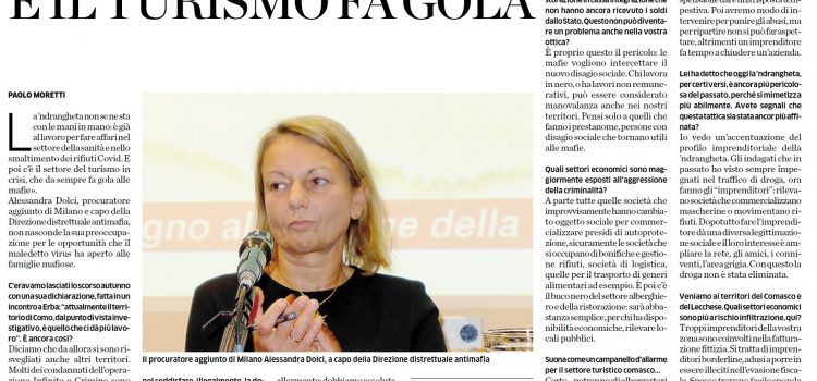 """COVID-19: """"Un affare per la 'ndrangheta"""""""