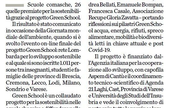 """PROGETTO GREEN SCHOOL: """"Insegnare la sostenibilità ai ragazzi significa dare loro un futuro e un mondo migliori"""""""