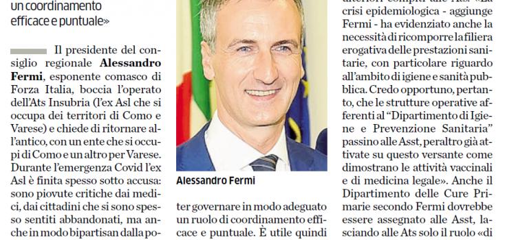 """SANITA' LOMBARDA: """"Fa piacere che il Presidente del Consiglio regionale ammetta alcuni degli sbagli fatti da Regione Lombardia"""""""