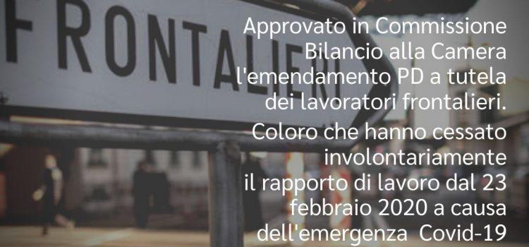 """DL RILANCIO: """"6 milioni di euro per i frontalieri, buona notizia"""""""
