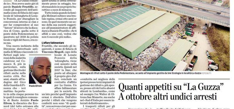 """'NDRANGHETA COMO-VARESE: """"La longa manus della criminalità organizzata sul business dei rifiuti tra Como e Varese"""""""