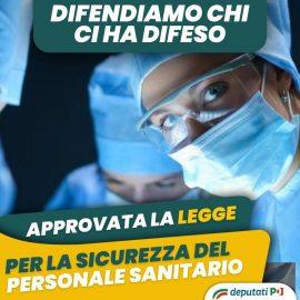 """SANITA': """"Approvata la legge per la sicurezza del personale sanitario"""""""