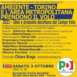 AMBIENTE, Torino e l'area metropolitana. Idee e proposte per il 2021 | ore 9.30 | Aeroporto di Torino Aeritalia, strada della Berlia, 500 | TORINO