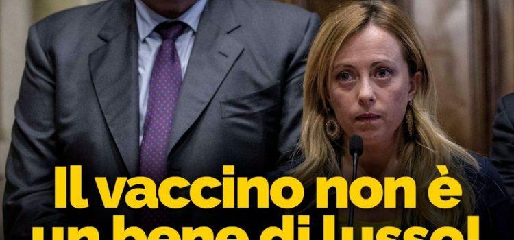 """COVID19: """"Il vaccino non è un bene di lusso"""""""