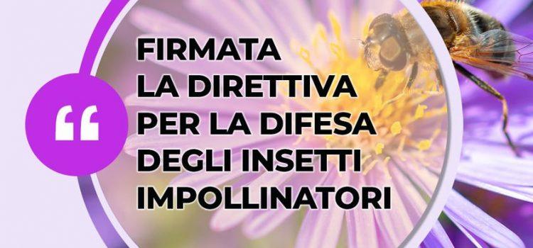"""AMBIENTE: """"Firmata dal ministro Cingolani la Direttiva Biodiversità 2021 per la difesa degli insetti impollinatori"""""""