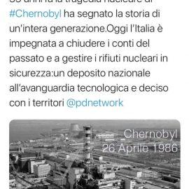 """CHERNOBYL: """"Italia impegnata a chiudere con il passato nucleare"""""""