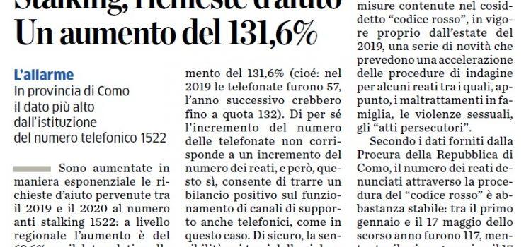 """DONNE, VIOLENZA: """"Istat, con il Covid le chiamate al 1522 aumentano del 79,5%"""""""