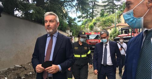 MALTEMPO NEL COMASCO, MINISTRO DELLA DIFESA SUL LAGO DI COMO